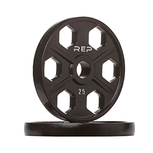REP FITNESS Equalizer Iron Olympic Plates, 2-Inch Precision Weight Plates