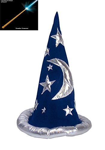 Adult or Child Wizard Hat or Merlin Hat with Wizard Magic Wand Set(US Seller) -