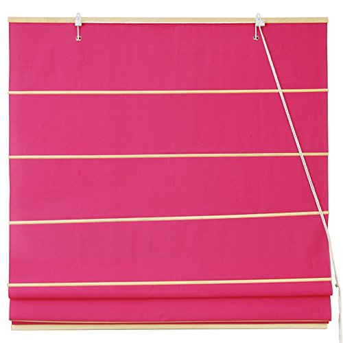 Oriental Furniture Cotton Roman Shades - Pink - (48 in. x 72 in.)