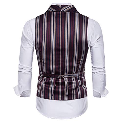 Élégant Mariage Homme Rouge Leisure Veste Vin Gilet Business Chengyang Fit Slim Manches 1 Sans Costume 5qUCwEOP