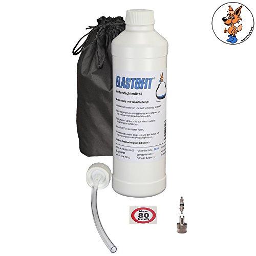 Elastofit Nachfüllpack Pannenset Reifendichtmittel Ersatzflasche für alle PKW 10 Jahre haltbar