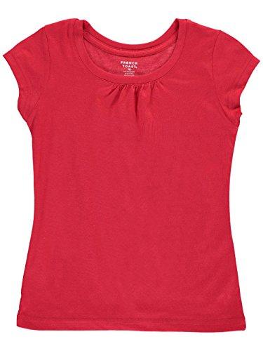ls Short Sleeve Crew Neck Tee, Red, 7/8 ()