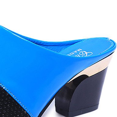 LvYuan Tacón Robusto-Confort-Sandalias-Vestido Informal-PU-Negro Azul Beige Naranja beige