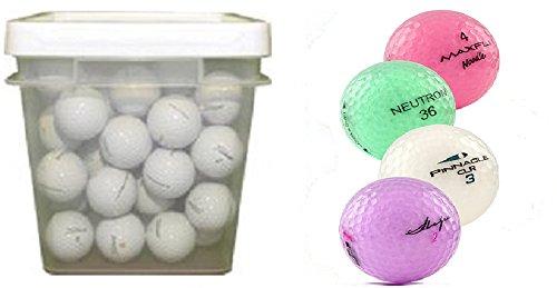 クリスタルMixブランドアソートカラーリサイクルゴルフボール( 100-ballバケット) B00O5XQTD0