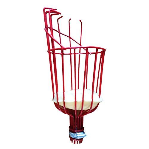 Garden Fruit Basket (Ragdoll50 Fruit Picker, Aluminum Fruit Picker with Lightweight 10 Foot Telescoping Pole Adjustable Fruit Picking for Fruit Apple)