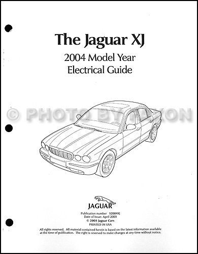2004 jaguar xj8 and xjr electrical guide wiring diagram paperback – 2004