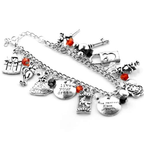 Blingsoul Mickey Mouse Charm Bracelet for Women - Bracelets Jewelry Merchandise Gift Collection ()