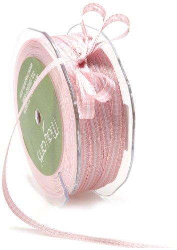May Arts 1/4-Inch Wide Ribbon, Pink Check