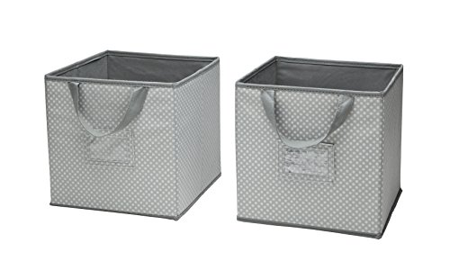Delta-Children-2-Count-Nursery-Organizer-Bin-Set-Dove-Grey
