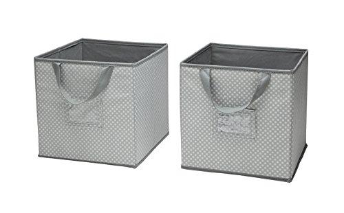 delta children 2 count nursery organizer bin set, dove grey