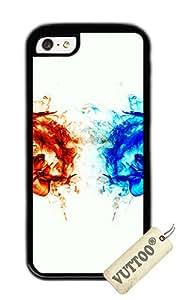 iPhone 5C Case, VUTTOO iPhone 5C con foto: calor y frío para Apple iPhone 5C - TPU negro
