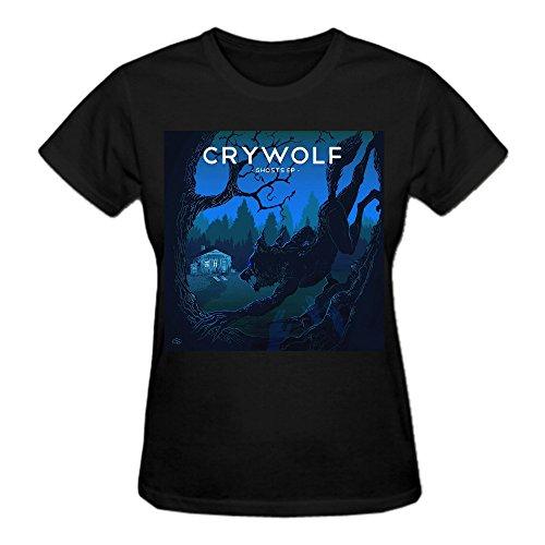 Crywolf Ghosts Ep Premium cotton Tee Shirts For Women Crew Neck Black