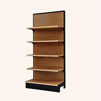 JTWJ HQQ supermercado estantes de madera color grano tienda ...