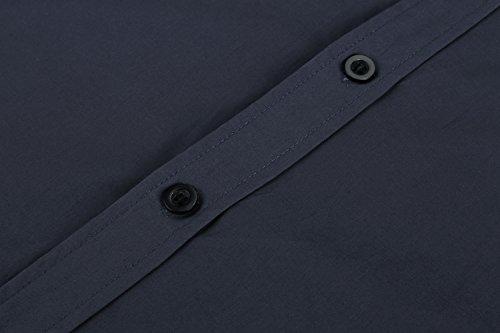 Detailorpin Men's Business Dress Shirt Slim Fit Contrast Button Down Long Sleeve Shirt by Detailorpin (Image #5)
