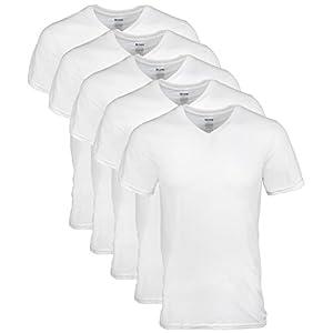 Gildan Men's V-Neck T-Shirts 5 Pack,White,XX-Large