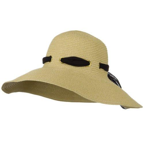 Q Headwear Satin Ribbon Band Toyo Hat - - Braid Toyo Wide Hat
