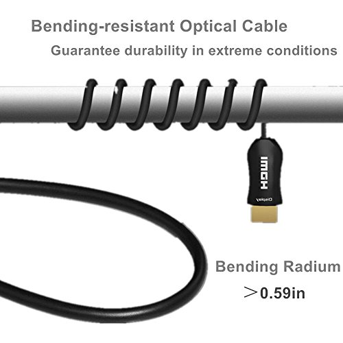 LBG Ultra HDMI Fiber Optic Cable 2 0 40FT Support 4K 60Hz 3D HDR 4:4:4  Dolby High-Speed 18 2 Gbps HDCP2 2,ARC, fits for Playstation 4 PS3 &  Nintendo