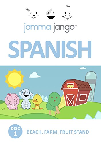 Jamma Jango Learn Spanish Language - Cartoon DVD Program - For Children (ages 1-7)