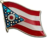 Wholesale Pack of 50 State of Ohio Flag Bike Hat Cap lapel Pin BEST material PREMIUM Vivid Color and UV Fade Resistant