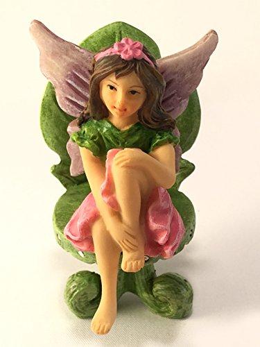 Miniature Fairy Garden Furniture Set: Leaf Bistro Set With