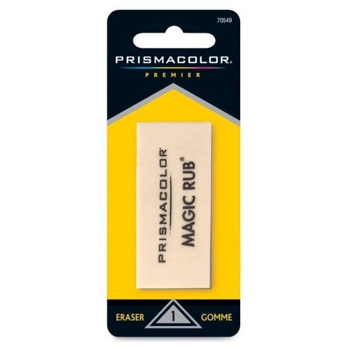 Prismacolor Magic-Rub Eraser - Lead Pencil Eraser - Non-smudge, Non-marring, Smear Resistant - Vinyl - 1Each - Gray ()