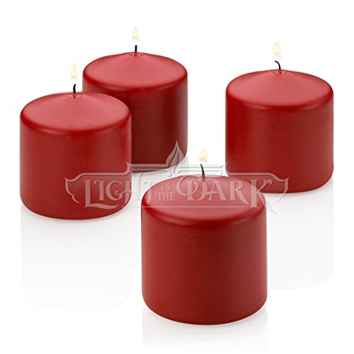 Red Apple Cinnamon Scented Pillar Candle 3 Inch Tall X 3 Inch Wide ()