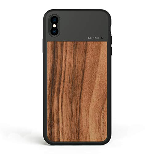 iPhone Xs Case || Moment Photo Case in Walnut Wood - Thin, Protective, Wrist Strap Friendly case for Camera Lovers.