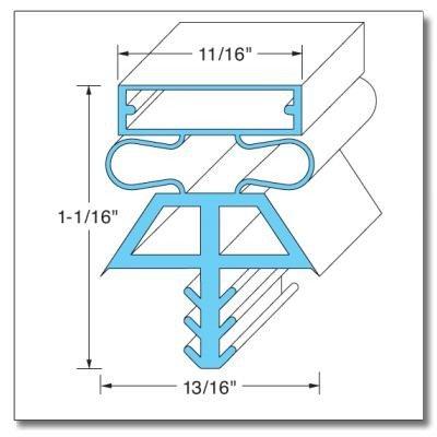 Kolpak DOOR GASKET - LH, 38-1/4'' X 77'' 22517-1075