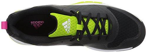 Adidas Womens Volley Assault 2w Pallavolo Scarpe Nero / Semi Solare Melma / Rosa Shock