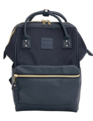 Kah&Kee Travel Backpack Casual Daypack Splice Bag for Women Man Small (Navy) by Kah&Kee
