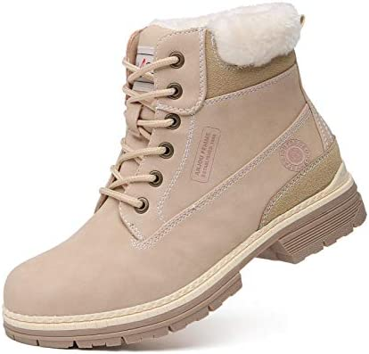 ANJOUFEMME Hiking Winter Snow Boots for Women