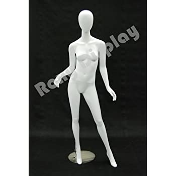 Egg Head with Lower Arms Rise and Legs Open. ROXY DISPLAY Highend Female Mannequin MD-A2BK1-S