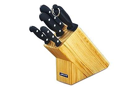 Arcos Maitre - Taco de 4 cuchillos y 1 chaira (5pzs)