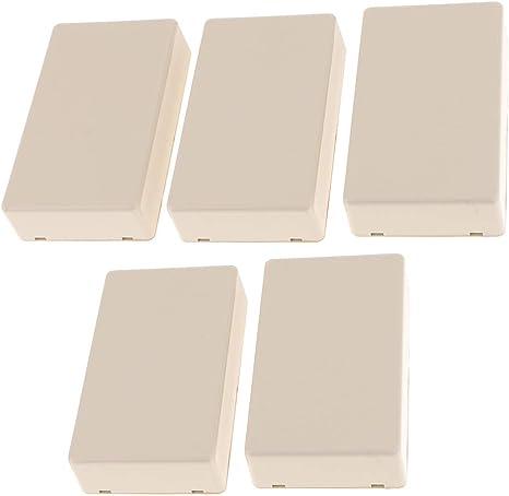 D DOLITY 5 Unids Impermeabe Caja de Proyecto Electrónico de Conexión de PCB, 60x25x100mm Blanca: Amazon.es: Electrónica