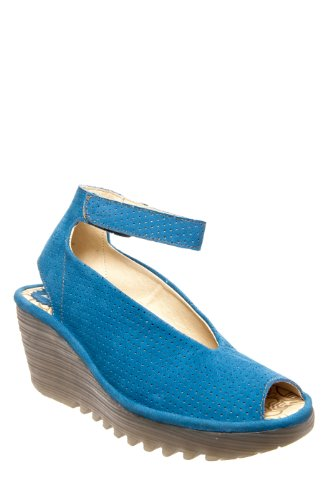 Fly London Women's Blue Yala Perforated 36 M EU by FLY London