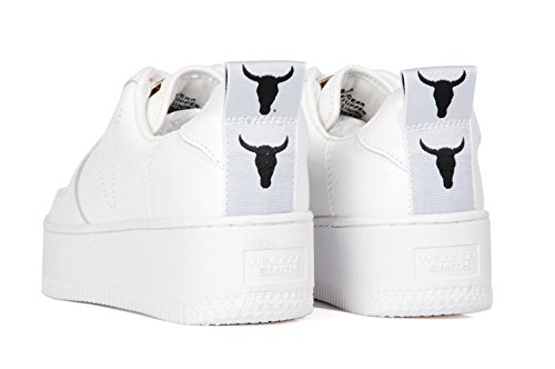 Windsor White Smith doppia bianche pelle High in Leather Platform White Scarpe Sneaker suola 77r6dw