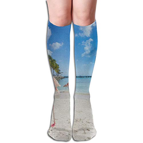Socks Flamingo Bird On Beach Unique Girls Stocking for sale  Delivered anywhere in USA