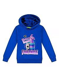 Fort-nite Lalla Kid's Hoodies Youth Sweatshirts Hooded Thin Sweatshirt Cotton