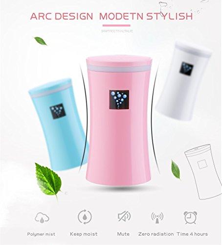 RuiQi KeJi Ultrasonic Cool Mist Humidifier with LED light&Whisper Quiet&Portable USB Powered for Home Office Car Travel Yoga Spa, 230ml by RuiQi KeJi (Image #3)