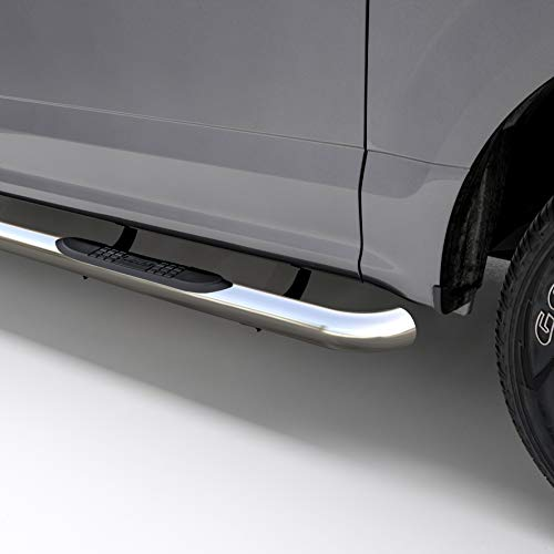 - ARIES 201008-2 3-Inch Round Polished Stainless Steel Nerf Bars 3 Inches Select Jeep Grand Cherokee