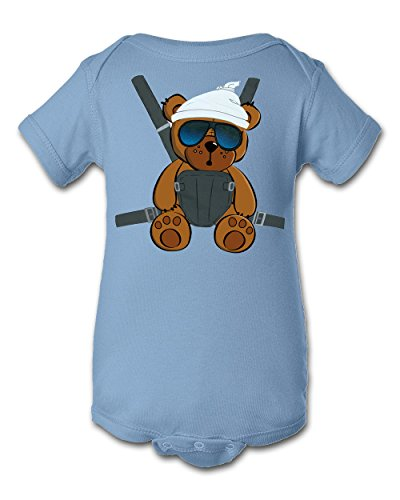 Tee Tee Monster Baby Boys'Hangover Inspired Onesie 6 Month Blue (Halloween Hangover Funny)