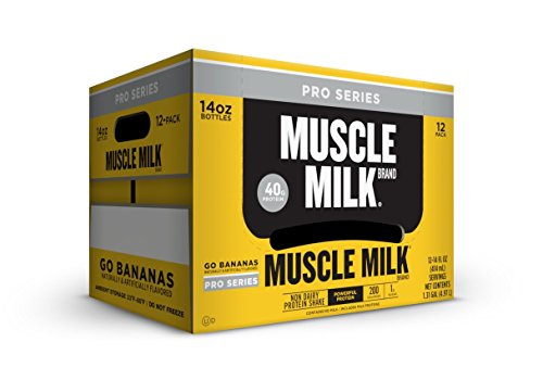 Cytosport Muscle Milk Pro 40 Series, Go Bananas, 14 oz. Bottles, 12 Count
