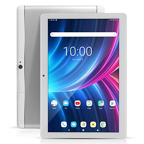 "Tablet Android 10"" con ranuras para tarjeta SIM - 10.1"" 4GB RAM 64GB ROM Octa Core 3G Libre GSM Tablet PC Smartphone con WiFi Bluetooth FM GPS YouTube Netflix (plata) a buen precio"