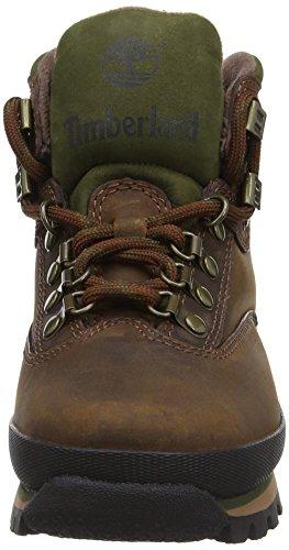 Timberland Euro Hiker 95310 - Zapatillas de senderismo de cuero para mujer Marrón