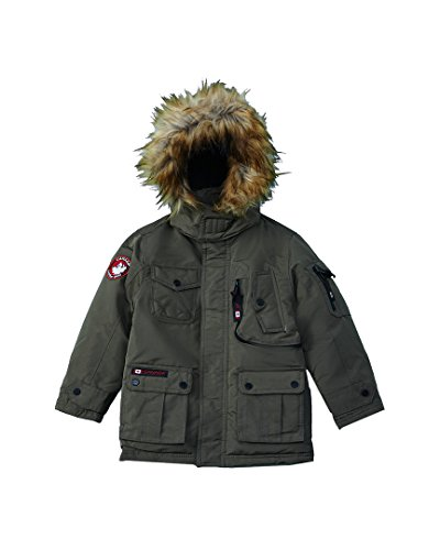 Canada Weather Gear Little Boys' Outerwear Jacket (More Styles Available), Stadium-CW055-Olive, 4