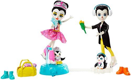 Enchantimals ¡Vamos a Patinar sobre Hielo! Muñeca Petterson Pinguïno y accesorios (Mattel GJX49)