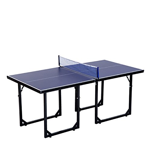 72'' Folding Mini Table Tennis Ping Pong Table Foldable Design Indoor Outdoor Entertainment Arcade Room Competition Sports Game Kids Children Birthday Gift Ideal For Home Office Camping Picnic by Auténtico
