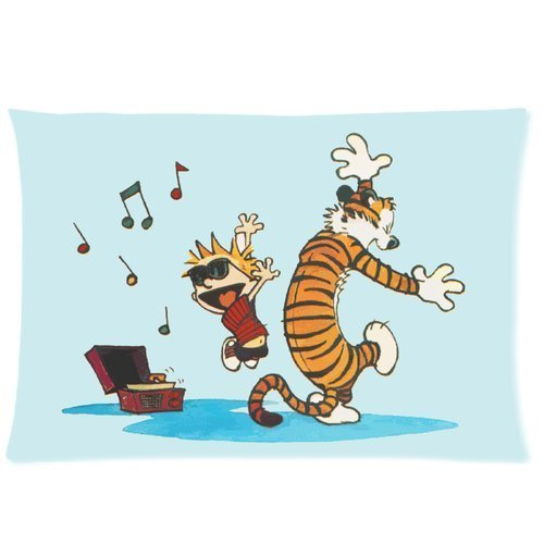 "Custom Calvin and Hobbes Pillowcase 20""x30"" Pillow Protector Cover WPS-076"