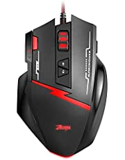 AMIR Gaming Maus, 9200DPI Gamer Maus, USB Kabel Gaming Maus mit 8 Tasten, LED,und USB-Wired Für Laptop/PC/MacBook/Computer