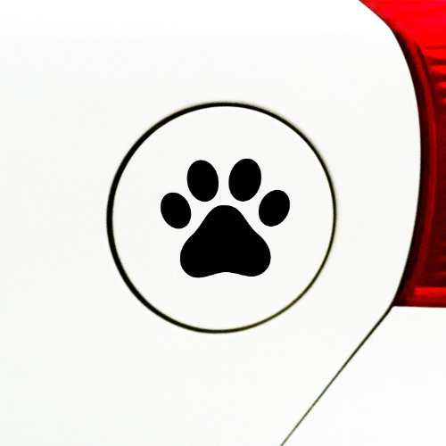 (Yadda-Yadda Design Co. Dog Pawprint - Car - Gas Cap - Vinyl Decal Sticker (3